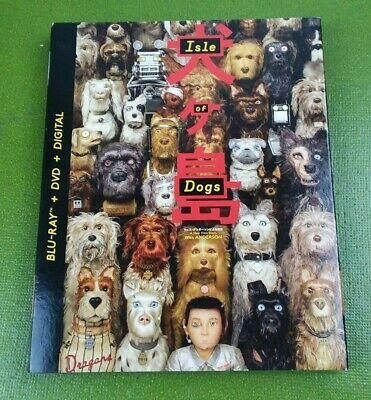 Isle of Dogs (Blu-ray/DVD, 2018, 2-Disc Set) W/ Slipcover BRAND NEW SEALED