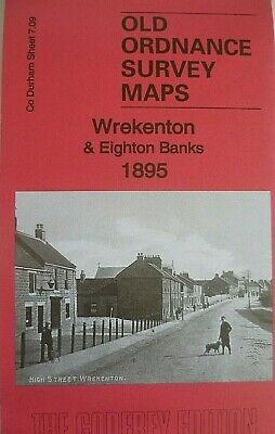 Old Ordnance Survey Maps Wrekenton & Eighton Banks Co Durham 1895 Godfrey Edit