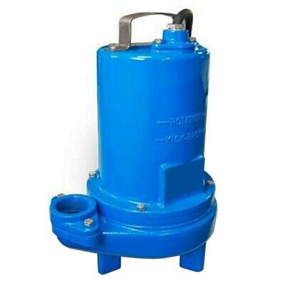"Submersible SEWAGE TRASH Pump - 2"" Out - 184 GPM - 115 V - 1/2 HP - Self Priming"