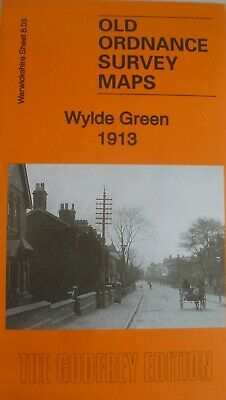 Old  Ordnance Survey Maps Wylde Green Warwickshire 1913 Godfrey Edition New