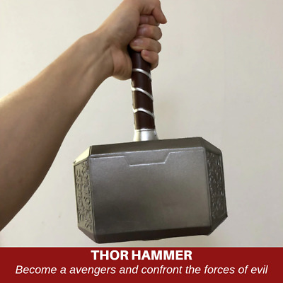 44cm Thor's Hammer Cosplay 1:1 Thor Thunder Hammer Figure Weapons Model Avengers