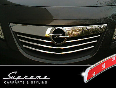 Vauxhall Meriva B 2010-2013 Chrome Trim 3M Tuning for Radiator Grill Upper