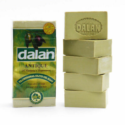 Dalan Antique Turkish Traditional Olive Oil Soap 100% Natural & Hand Made 5x180g
