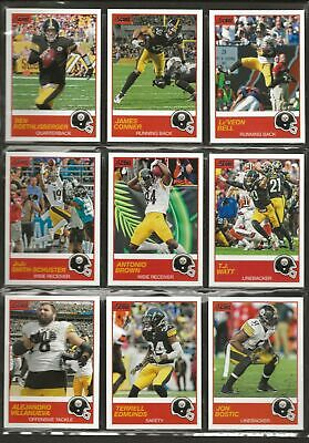 2019 Score Complete Team Set with Base and Rookies Pittsburgh Steelers  (F