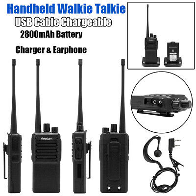 USB Chargeable UHF 400-470MHz Walkie Talkie Two Way Radio Handheld Long Range
