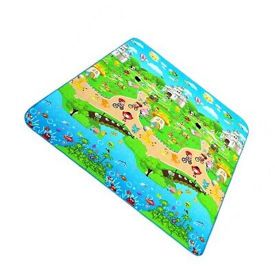 Waterproof Baby Mat Kid Crawling Educational Play Soft Baby Carpet 1.8m*1.5m Rug
