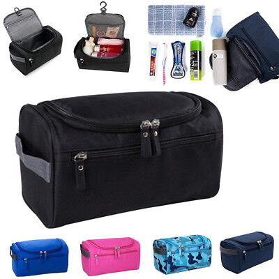 Men Women Travel Wash Bag Toiletry Organizer MakeUp Pouch Shaving Cosmetic Case