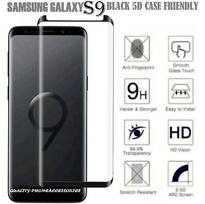 For Samsung Galaxy S9 5D Full Curved Tempered Glass LCD Screen Protector NEW