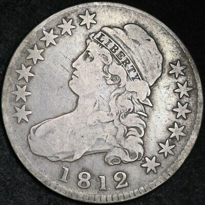 1812 Capped Bust Half Dollar CHOICE FINE FREE SHIPPING E275 ACNT