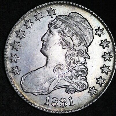 1831 Capped Bust Half Dollar CHOICE AU FREE SHIPPING E283 ACCT