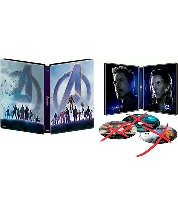Marvel's AVENGERS : ENDGAME BEST BUY EXCLUSIVE STEELBOOK CASE ONLY + FREE GIFT