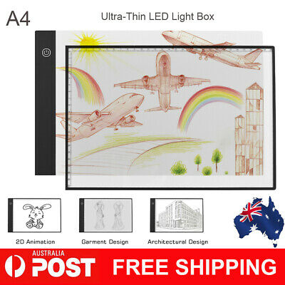 A4 Ultra-Thin Light Box LED Artcraft Eye-protecting Tracing Pad with USB Cable