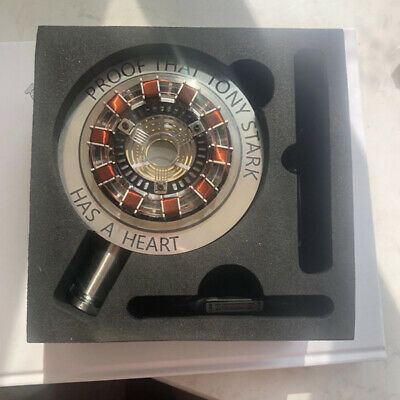 DIY Iron Man MK1 Arc Reactor Display Box Stand Base Glass Case USB Model Toy