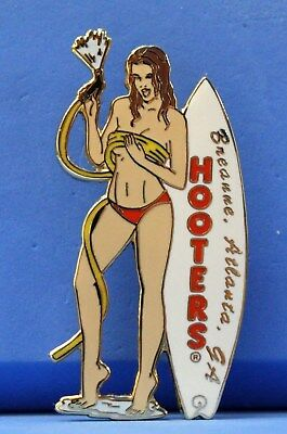 Hooters Calendar Girl Breanne Atlanta Ga Georgia White Surfboard Shower Hose Pin
