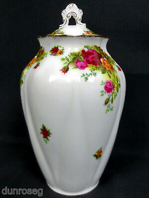 OLD COUNTRY ROSES LIDDED CHELSEA VASE, 1st QUALITY, VGC, 1962-73, ROYAL ALBERT