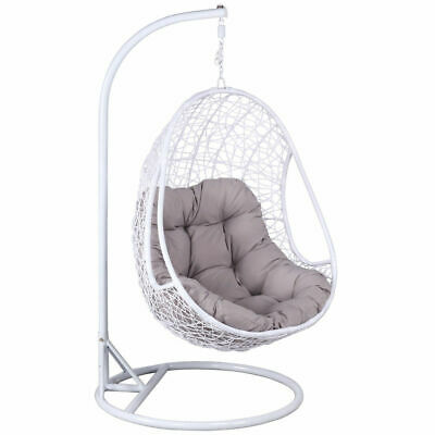 Brilliant Double Rattan Hanging Swing Chair Patio Garden Egg Chair Frankydiablos Diy Chair Ideas Frankydiabloscom
