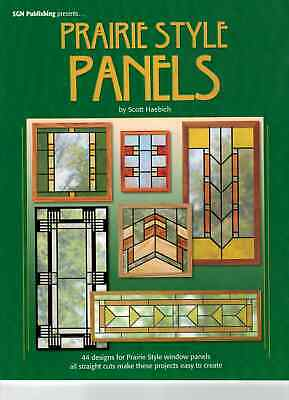 Prairie Style Panels Stained Glass Pattern Book Haebich 44 Designs for Windows