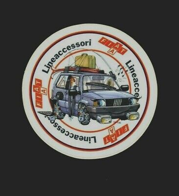 FIAT PANDA - LINEACCESSORI / Adesivo 1986 / Sticker to an ITALIAN CAR