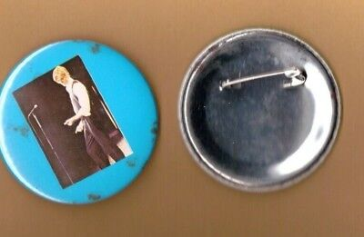 David Bowie on stage (2) vintage 1970s BUTTON BADGE