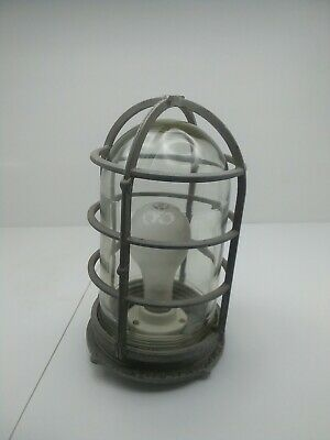 Large vintage Russell & Stoll Co. Nautical passage way light fixture
