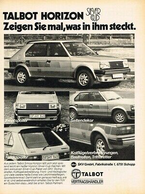 1980 Talbot Horizon Silver Cup (DE, 1pg.) Advertisement