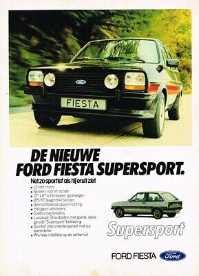 1980 Ford Fiesta Supersport (NL, 1pg.) Advertisement