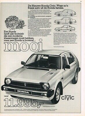 1980 Honda Civic (NL, 1pg.) Advertisement