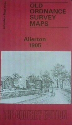 Old Ordnance Survey Detailed Maps Allerton Lancashire 1905 Godfrey Edition