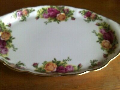 Royal Albert Old Country Roses Oval Tray 1962 10 INCHES LONG