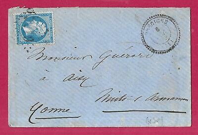 N°22 Gc 3019 Precigne Sartha Cad Type 22 Aisy Yonne Lettre Cover France