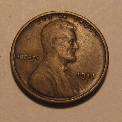1911 S Lincoln Cent Penny - Extra Fine Condition - 122SA