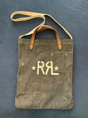 4d246008000 RRL Ralph Lauren Selvage Denim Tote bag Leather Handles | POLO RL