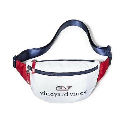 NWT Vineyard Vines for Target Flag Whale Fanny Pack America Red White & Blue USA