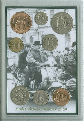 Mods (and Rockers) Vintage Mod Quadrophenia Retro Coin Display Gift Set 1964