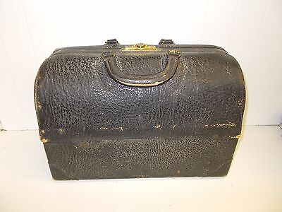 KW-152 Emdee By Schell Antique Vintage Leather Doctor's Bag Steampunk