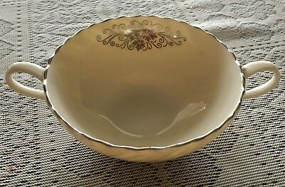 Lenox Valera Fine China E537 Usa Cream Soup Cup Bouillon Bowl Only Platinum Trim