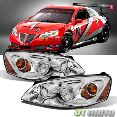 Fits 2005-2010 Pontiac G6 Replacement Headlights Headlamps Pair Set Left+Right