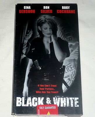 VHS Black and White 1998 Gershon Silver Cochrane Rated R