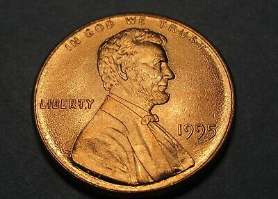 1995 Doubled Die Obverse Error Lincoln Cent Uncirculated Memorial Penny 1C Piece