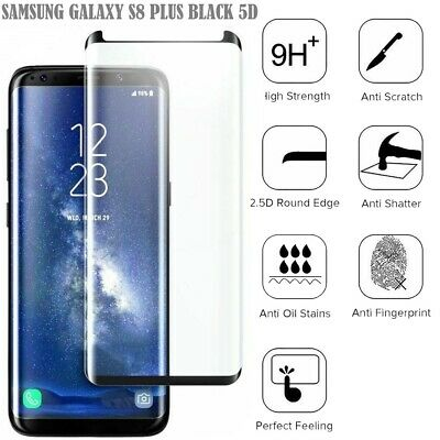 For Samsung Galaxy S8 plus Full Curved Tempered Glass LCD Screen Protector NEW