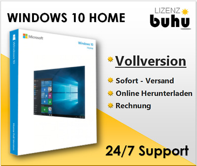 MS Windows 10 Home, Win 10 Home, 32&64 Bits, Produkt / key per email