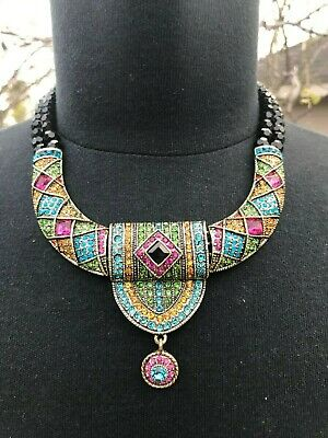 Heidi Daus Tailored Brilliance Drop Necklace Multi HEIRLOOM PC TO OWN & PASS ON