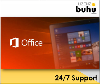 MS Office 2010/2013/2016/2019 Professional Plus, 32&64 Bits Produktkey per email