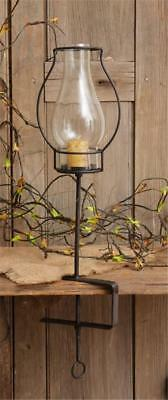 Wrought Iron And Glass Hurricane Lantern Candle Holder