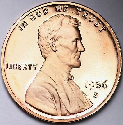 PROOF 1986 S Lincoln Memorial Cent Penny FREE SHIPPING
