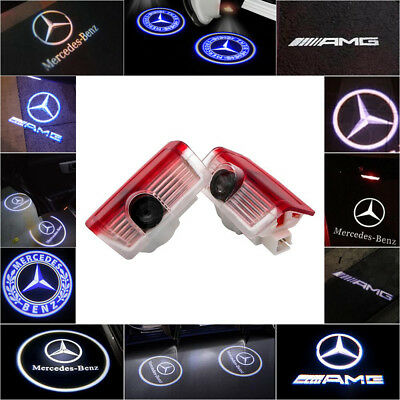 Mercedes Benz CREE LED Car Door Light Projector Puddle Courtesy Laser LOGO Lamp