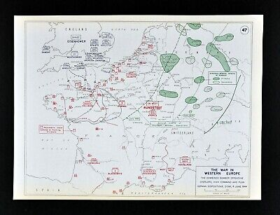 West Point WWII Map D-Day Invasion Bombing Offensive Overlord Normandy France