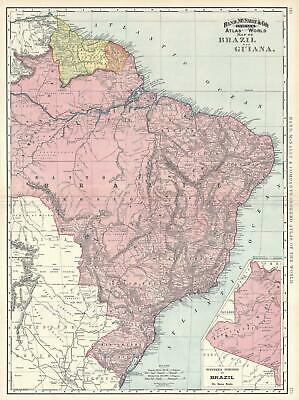 Carte Bresil Relief.Carte Bresil Et Guyane Relief Collection Pernet Pays Andins Du Nord
