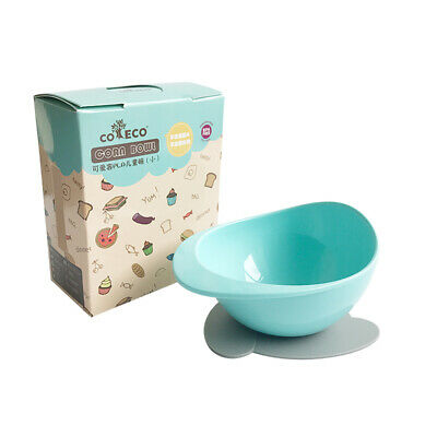 Stay Put Suction Baby Bowls PLA Corn Snack Bowl With Suction Base Spill F7V6