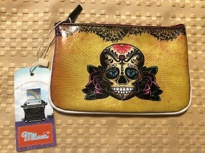 b1d098cbe497 LAVISHY MEXICAN SUGAR Skull Day of the Dead Embroidered Large Wallet ...